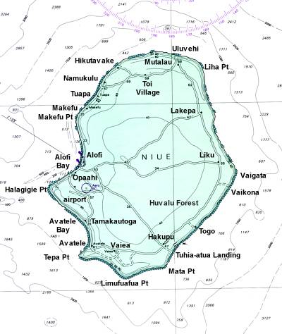 Cyclone Heta - Niue map