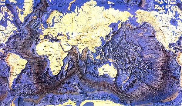 Ocean Floor Depth Map The ocean's floor